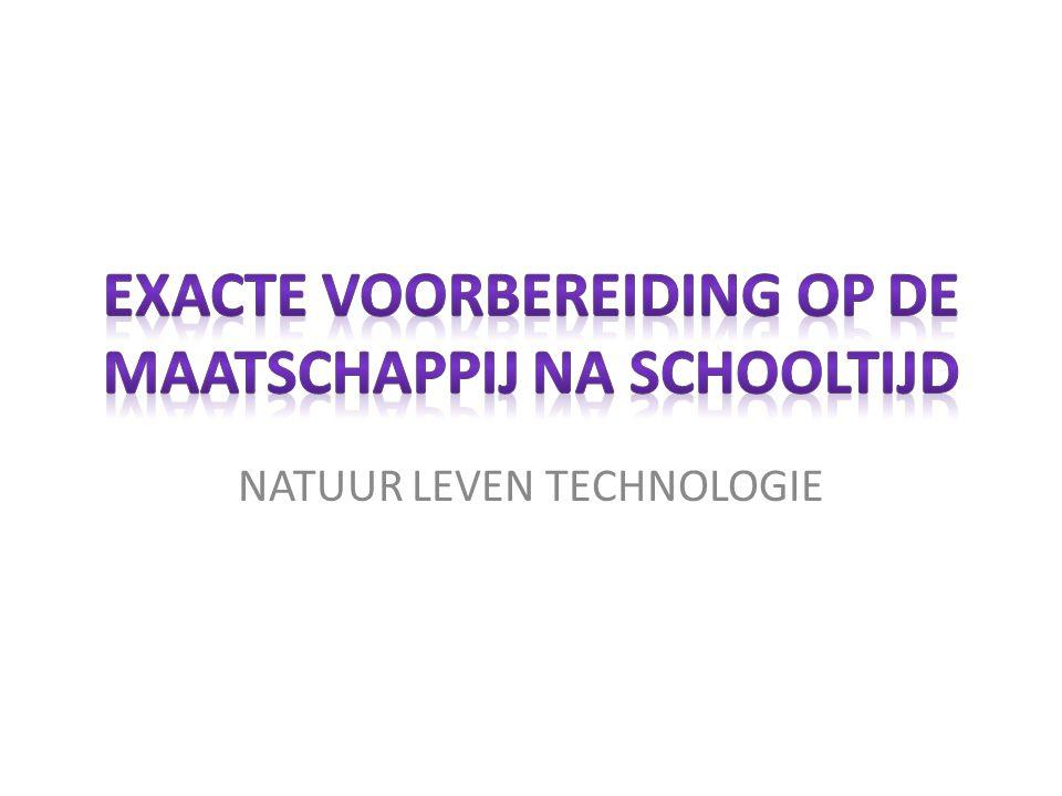 EXACTE VOORBEREIDING OP DE MAATSCHAPPIJ NA SCHOOLTIJD
