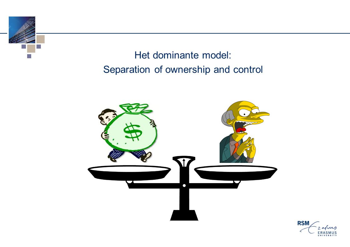 Het dominante model: Separation of ownership and control