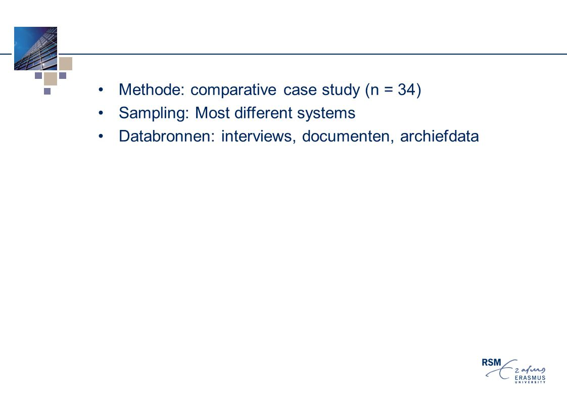 Methode: comparative case study (n = 34)