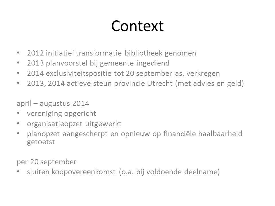 Context 2012 initiatief transformatie bibliotheek genomen