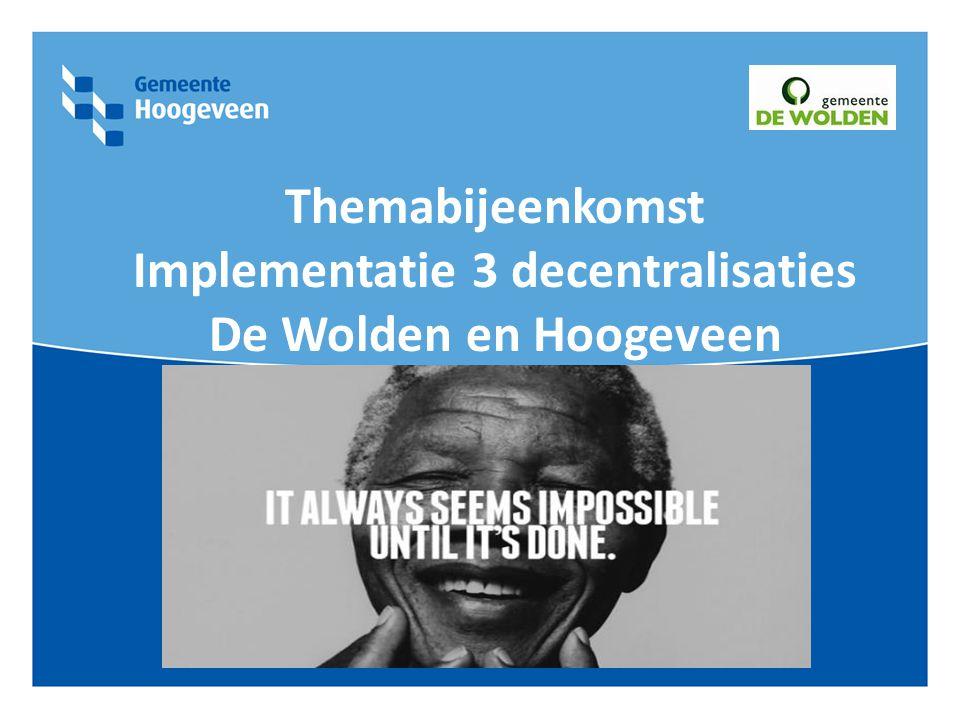 Cliëntenraden en WMO raden De Wolden en Hoogeveen 8 oktober 2014