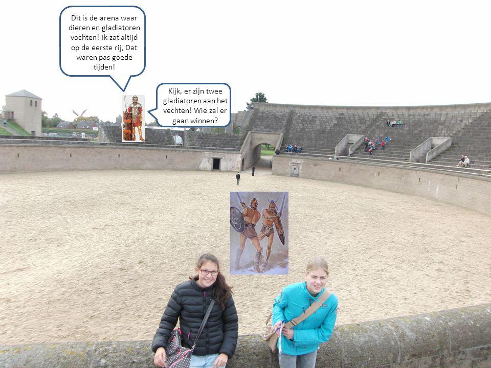 Dit is de arena waar dieren en gladiatoren vochten