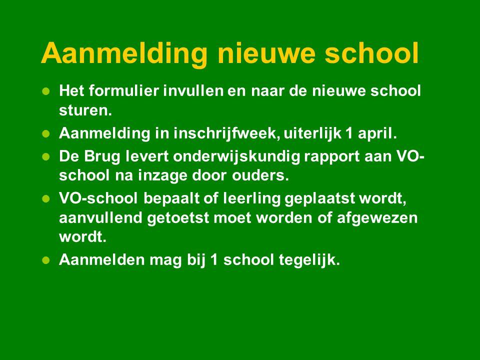 Aanmelding nieuwe school