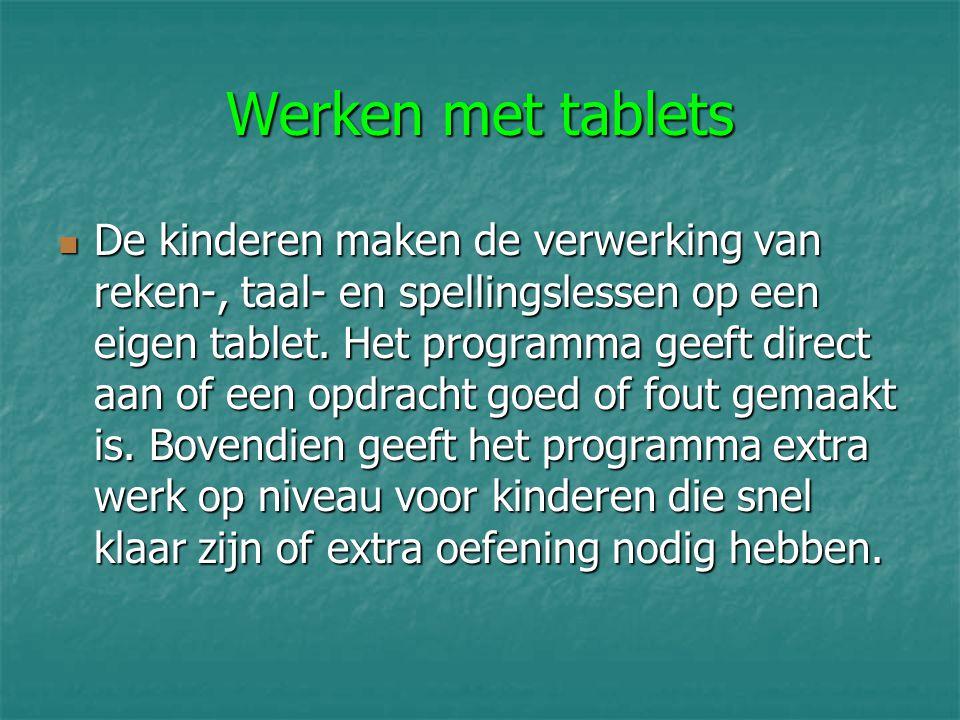 Werken met tablets