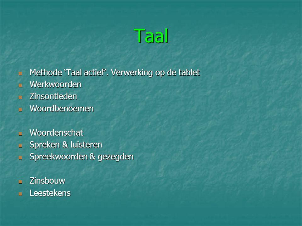 Taal Methode 'Taal actief'. Verwerking op de tablet Werkwoorden