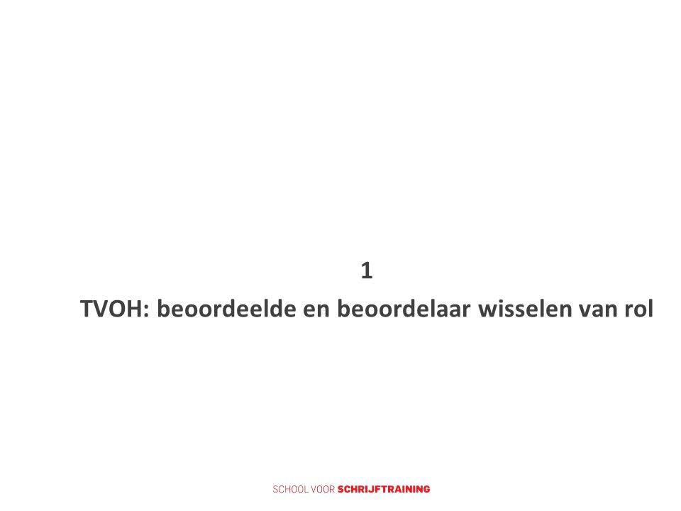 TVOH: beoordeelde en beoordelaar wisselen van rol