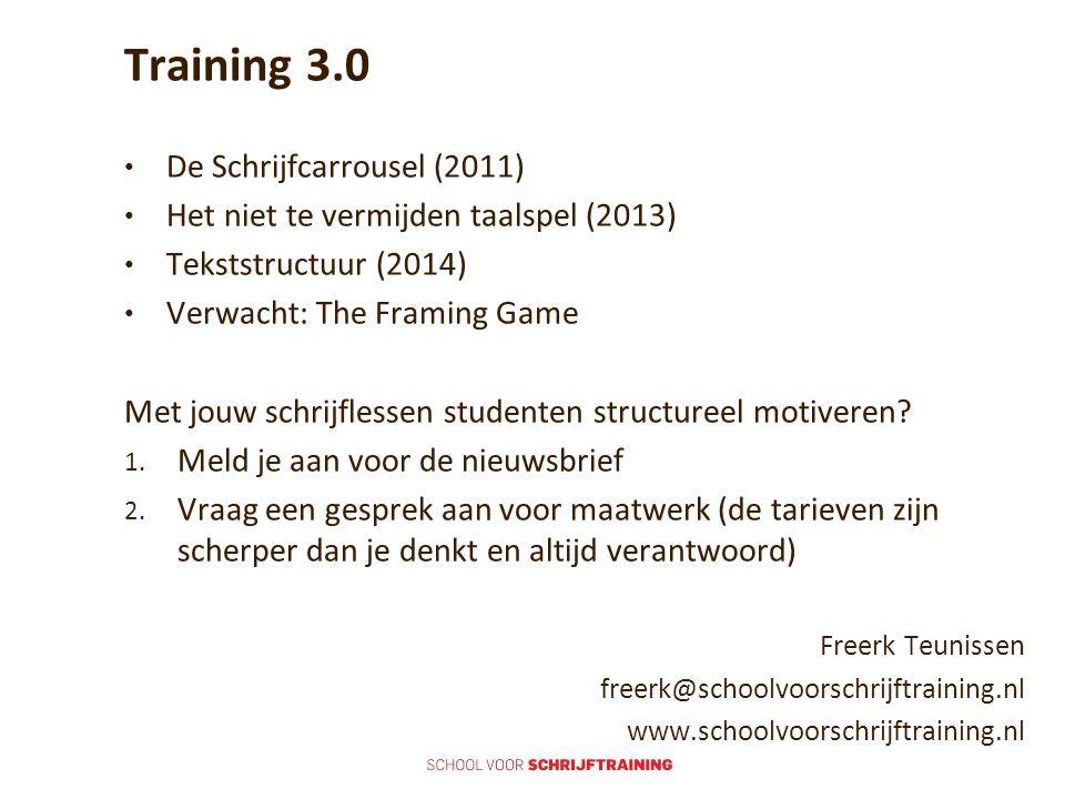 Training 3.0 De Schrijfcarrousel (2011)