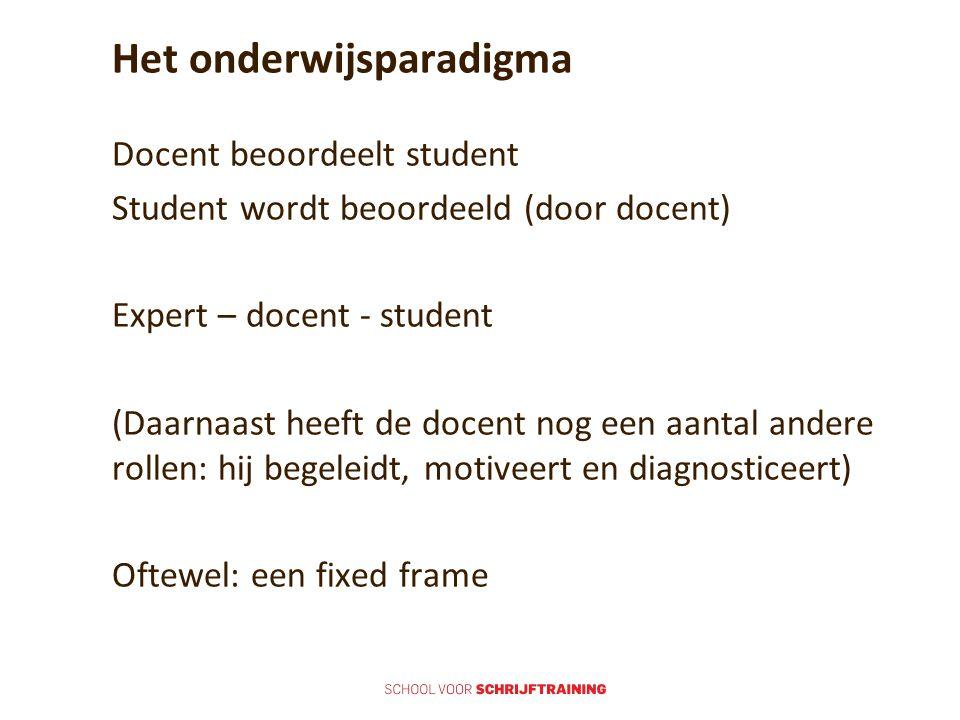 Het onderwijsparadigma