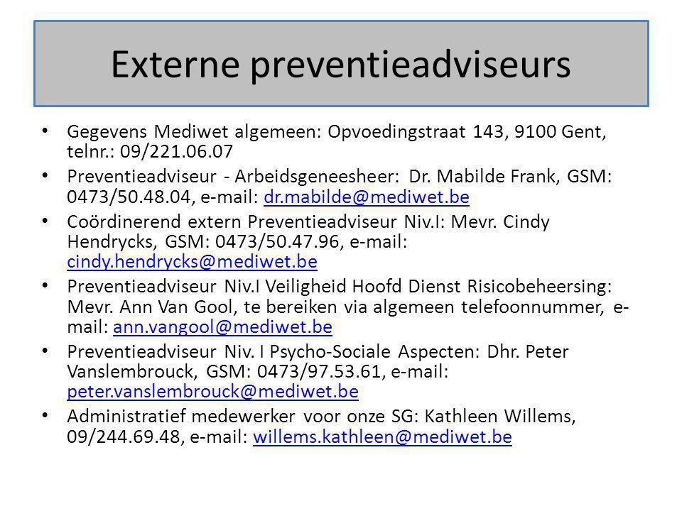Externe preventieadviseurs