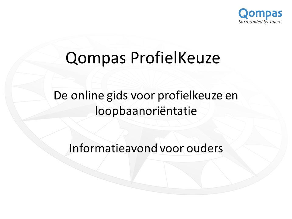 Qompas ProfielKeuze De online gids voor profielkeuze en loopbaanoriëntatie.