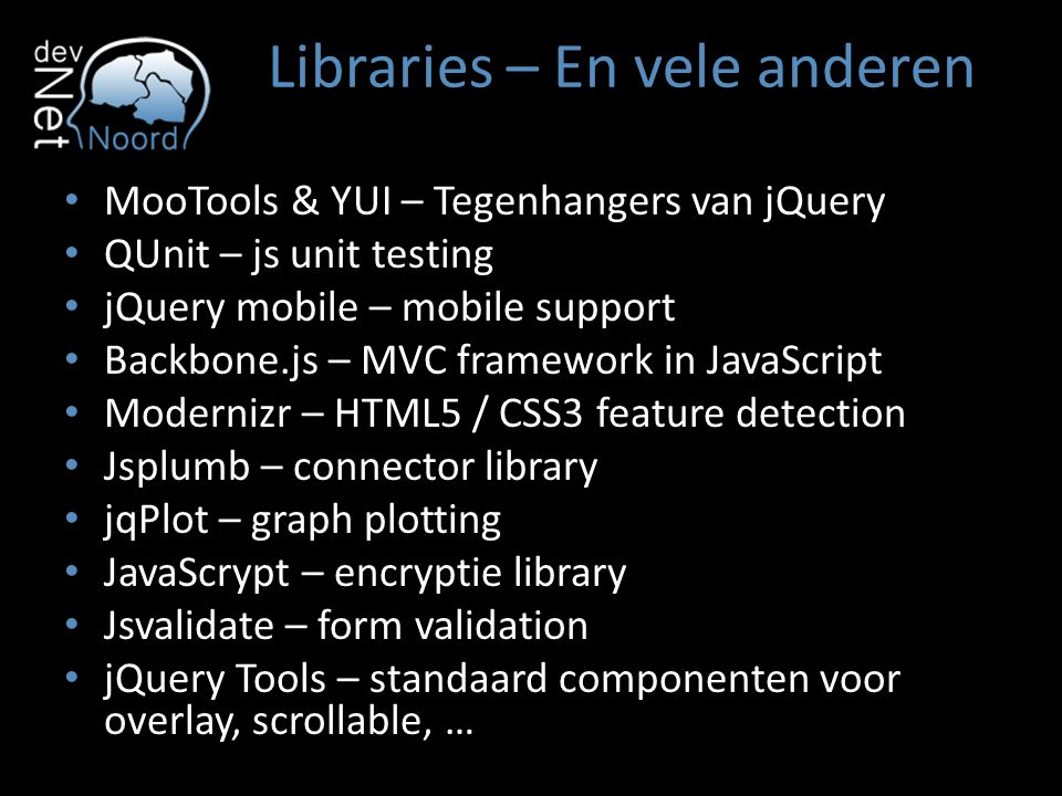 Libraries – En vele anderen