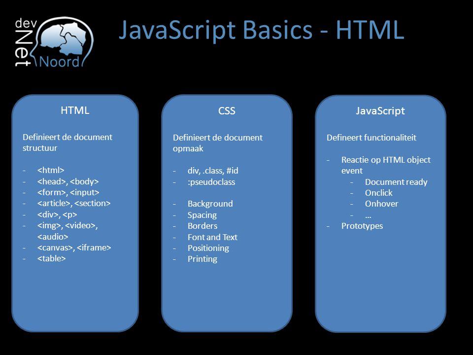 JavaScript Basics - HTML