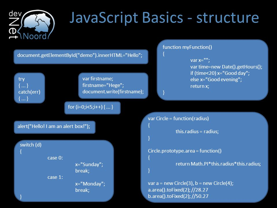 JavaScript Basics - structure