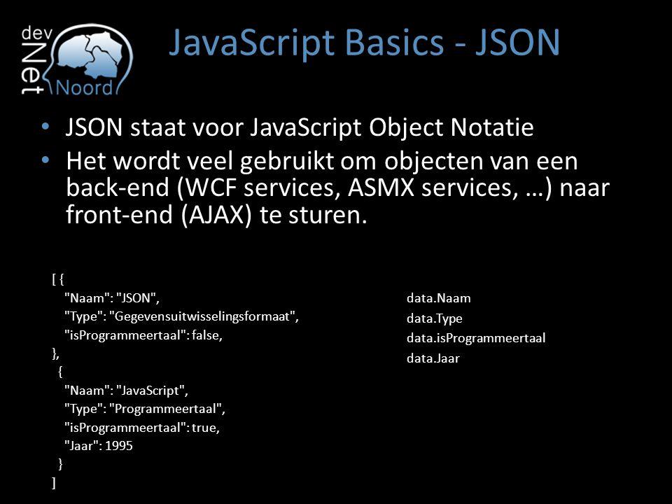 JavaScript Basics - JSON