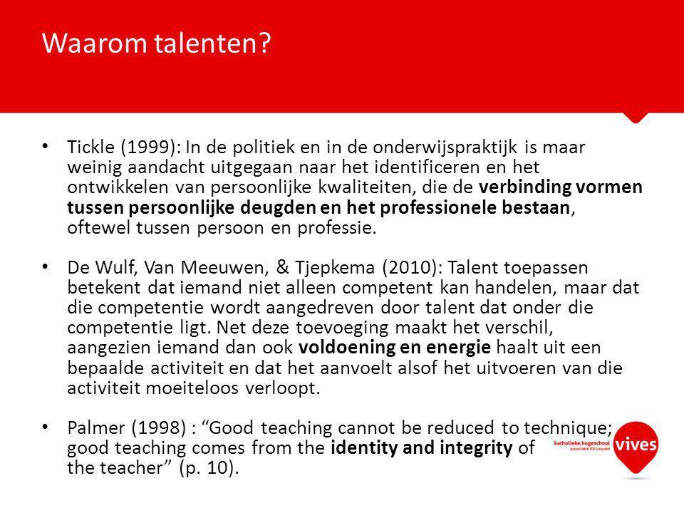 Waarom talenten