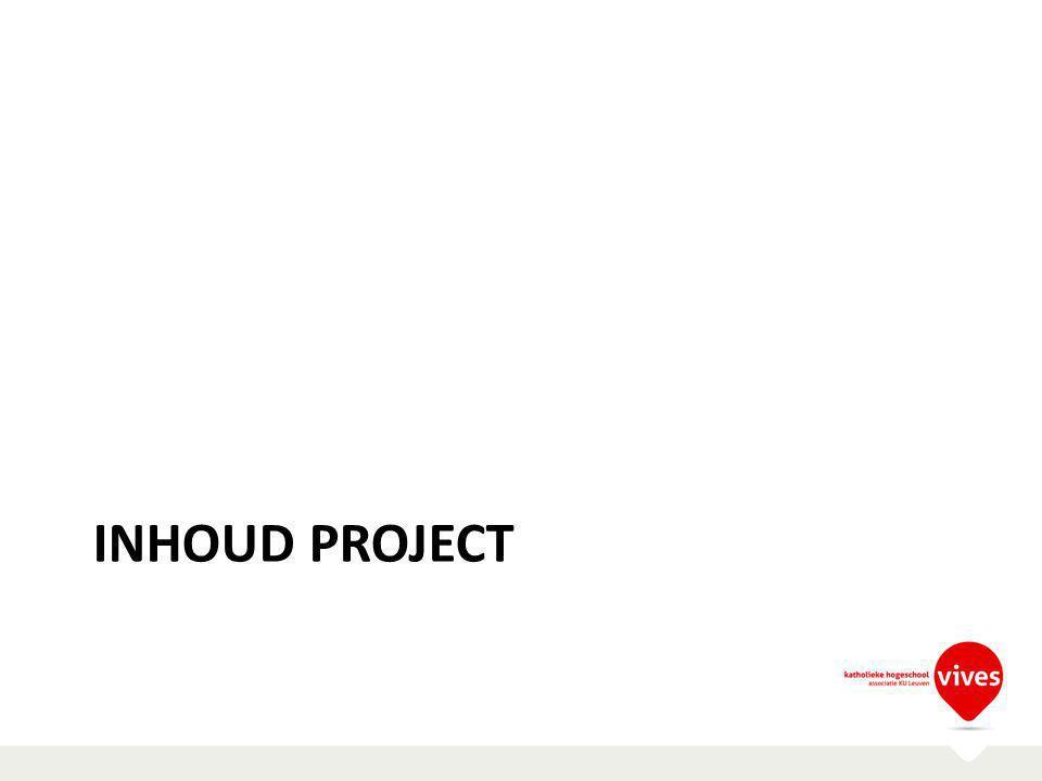 Inhoud project