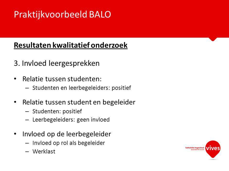 Praktijkvoorbeeld BALO