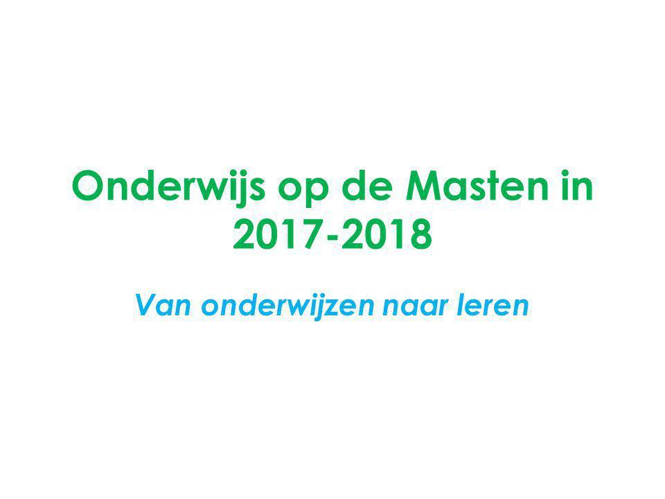 Onderwijs op de Masten in 2017-2018