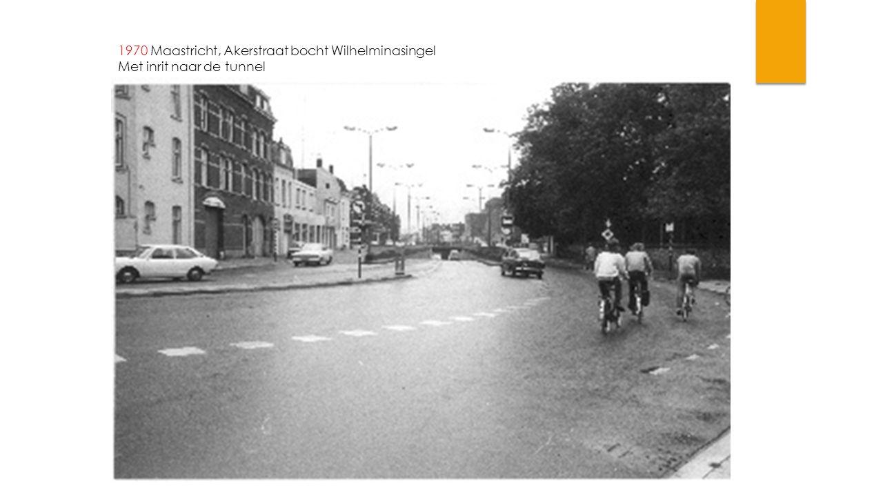 1970 Maastricht, Akerstraat bocht Wilhelminasingel