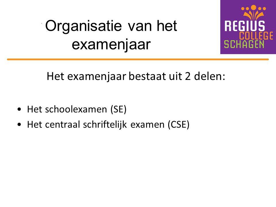 Schoolexamen (SE) 3 x een SE-periode in 4-TL