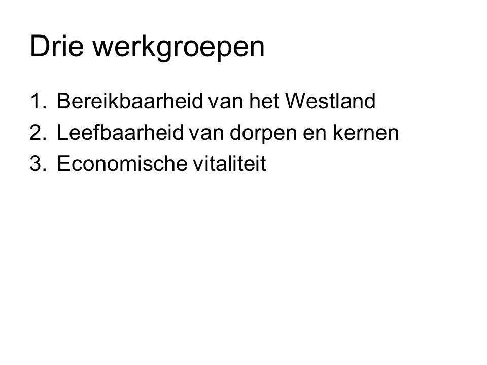 Drie werkgroepen Bereikbaarheid van het Westland