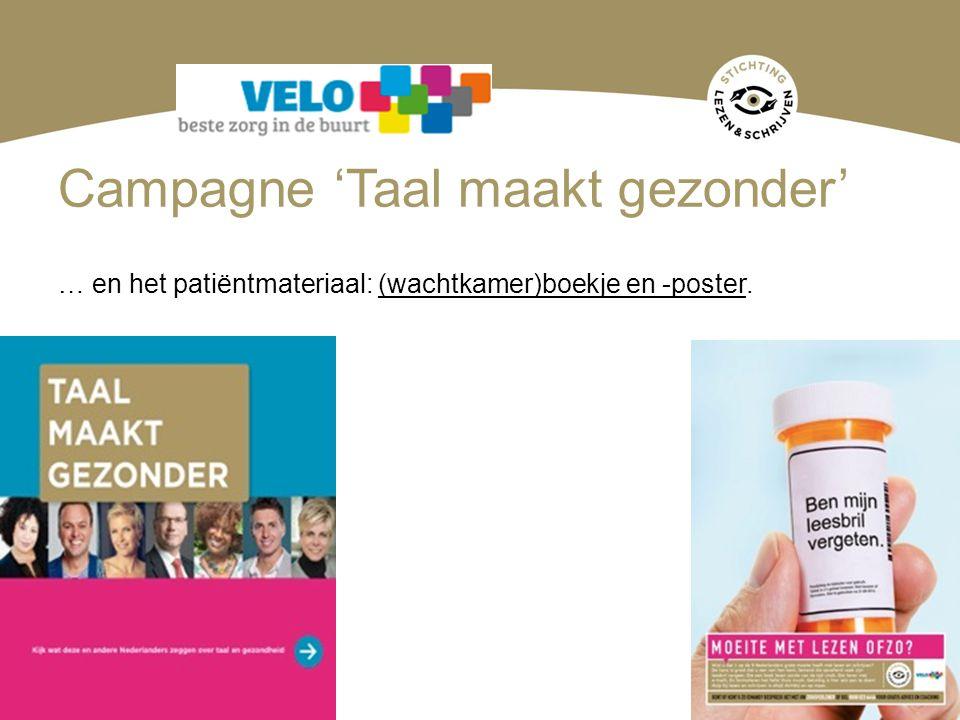 Campagne 'Taal maakt gezonder'