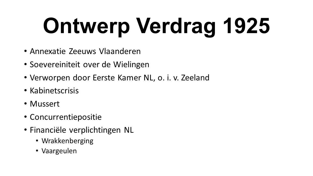 Ontwerp Verdrag 1925 Annexatie Zeeuws Vlaanderen