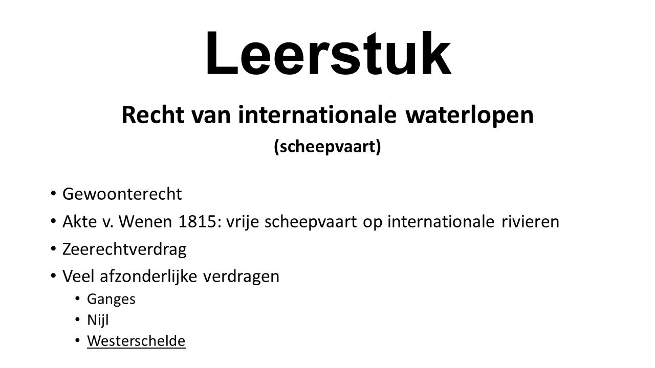 Recht van internationale waterlopen