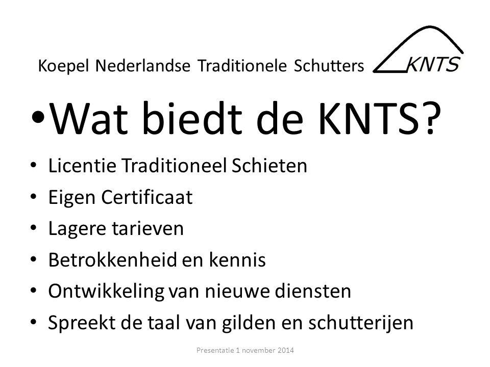 Wat biedt de KNTS Licentie Traditioneel Schieten Eigen Certificaat