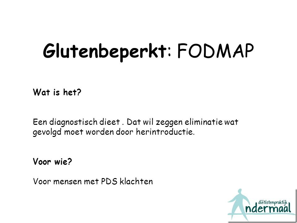 Glutenbeperkt: FODMAP