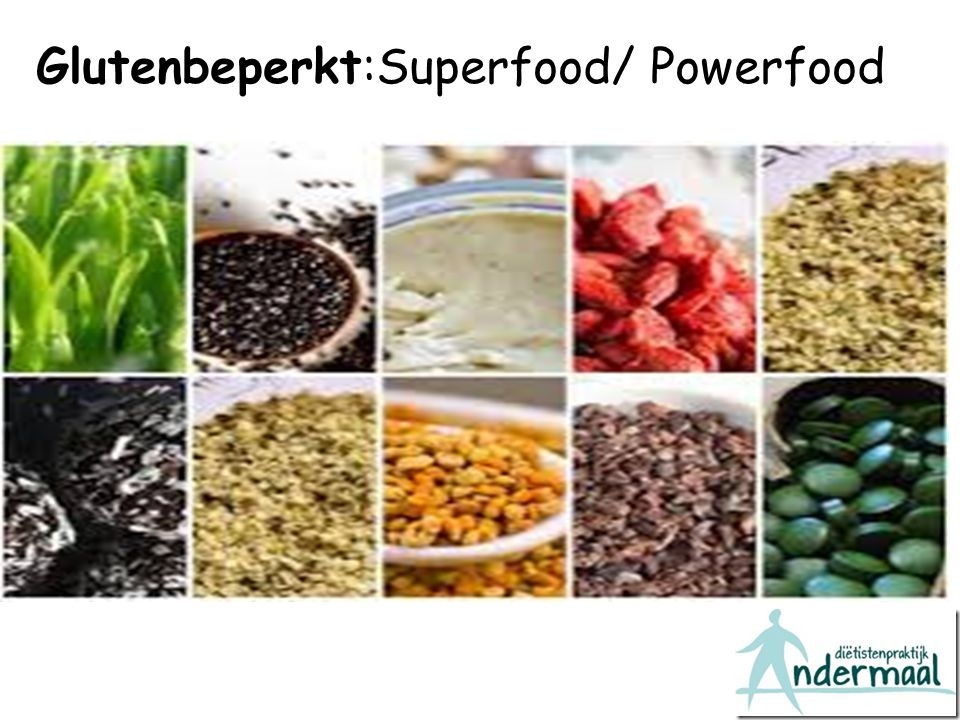 Glutenbeperkt:Superfood/ Powerfood
