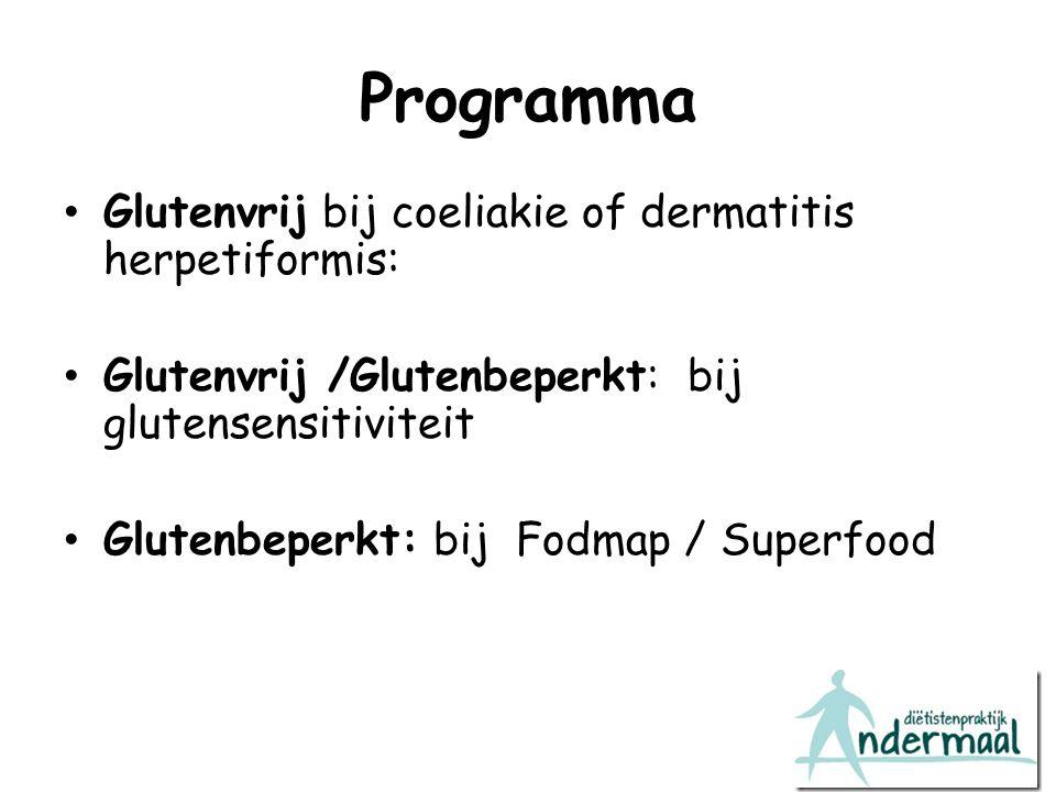Programma Glutenvrij bij coeliakie of dermatitis herpetiformis: