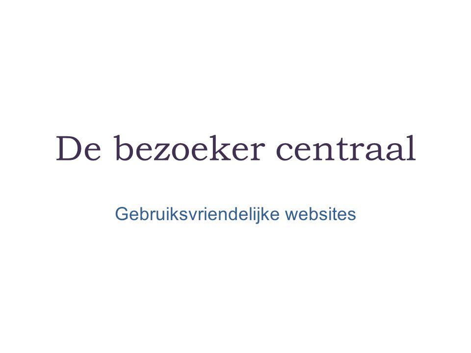 Gebruiksvriendelijke websites