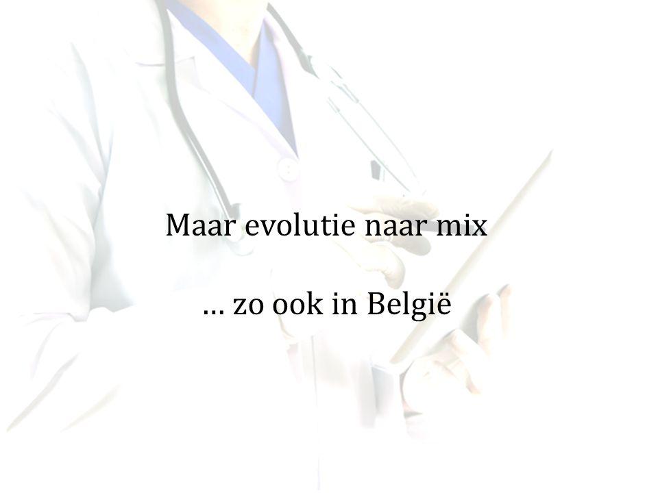 Maar evolutie naar mix … zo ook in België