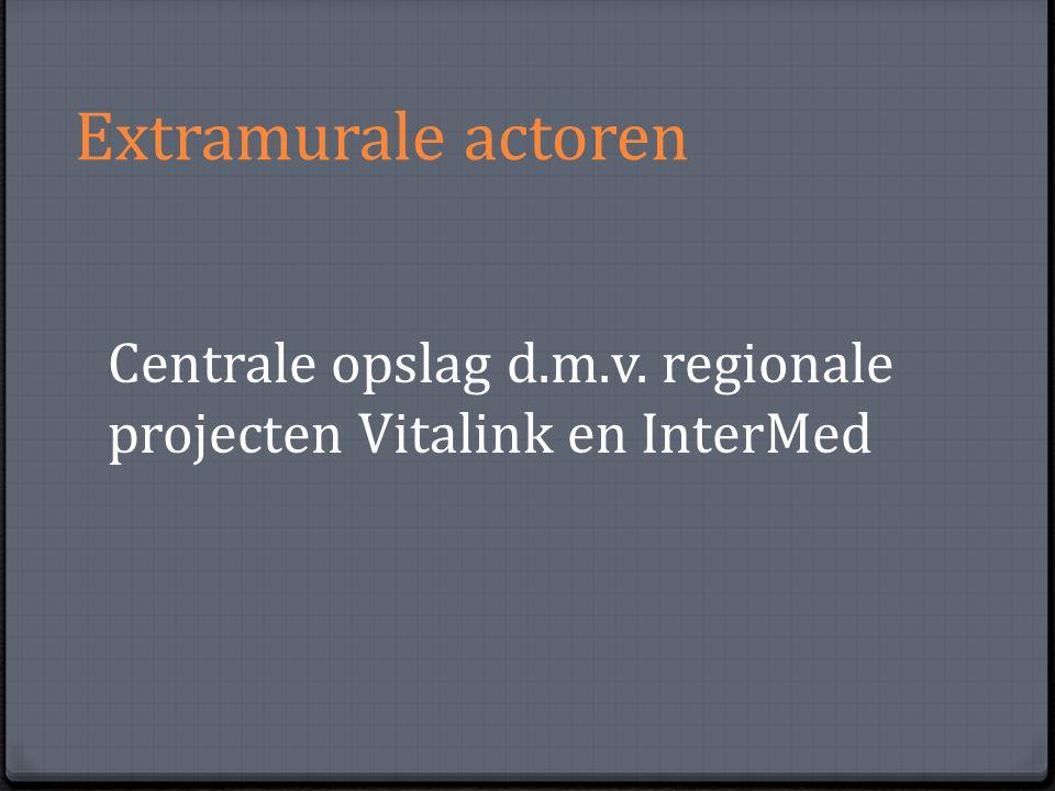 Extramurale actoren Centrale opslag d.m.v. regionale projecten Vitalink en InterMed