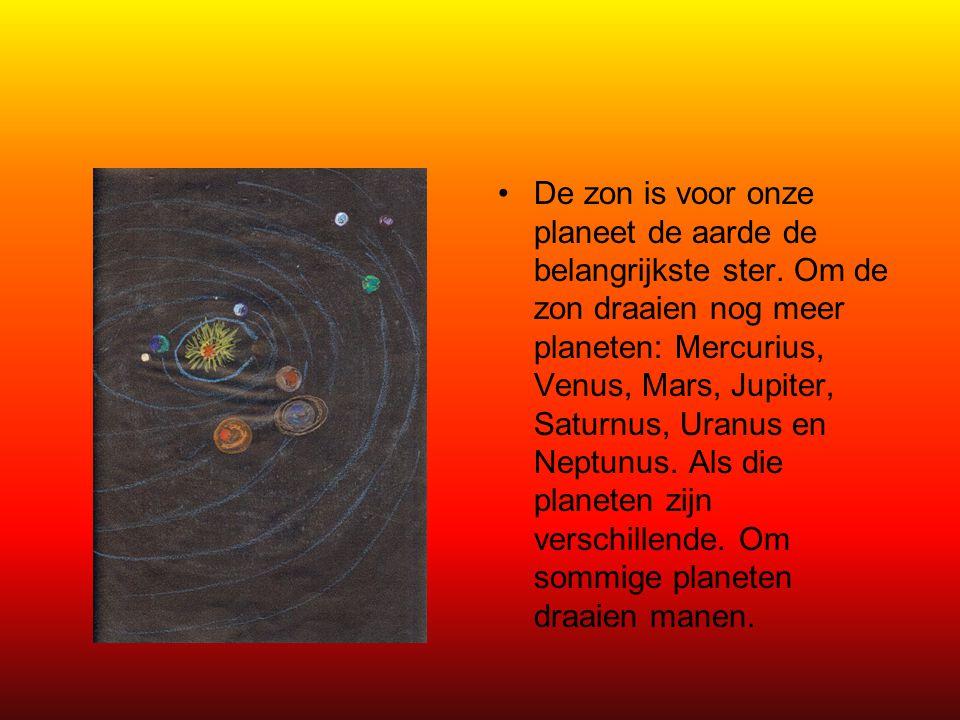 De zon is voor onze planeet de aarde de belangrijkste ster