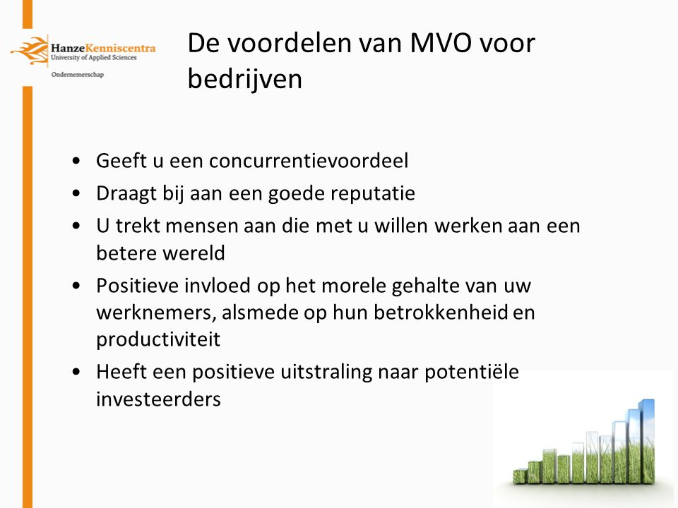 De voordelen van MVO voor bedrijven