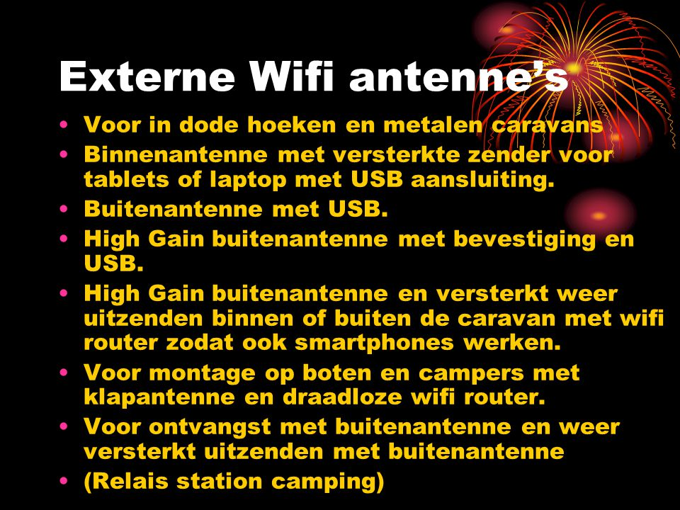 Externe Wifi antenne's