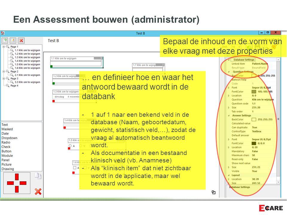 Een Assessment bouwen (administrator)