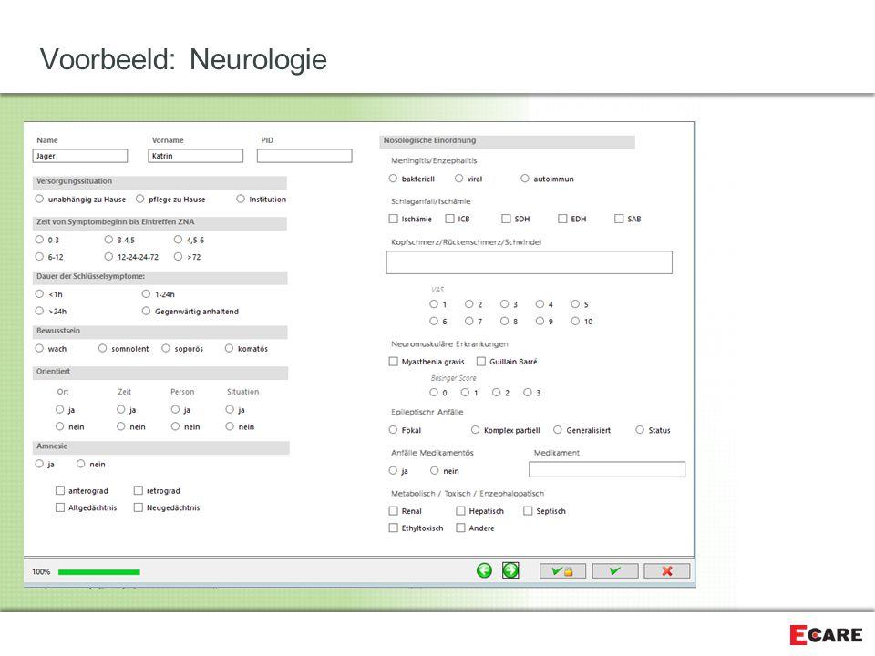 Voorbeeld: Neurologie