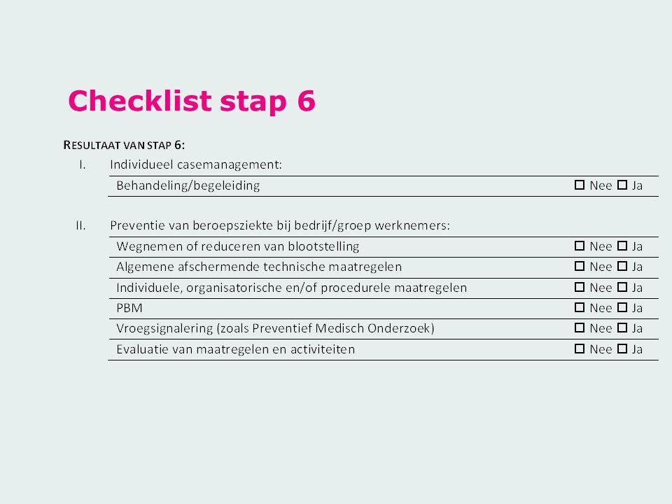Checklist stap 6
