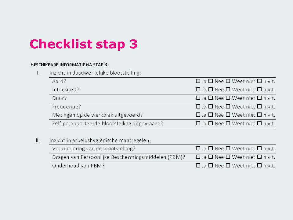 Checklist stap 3