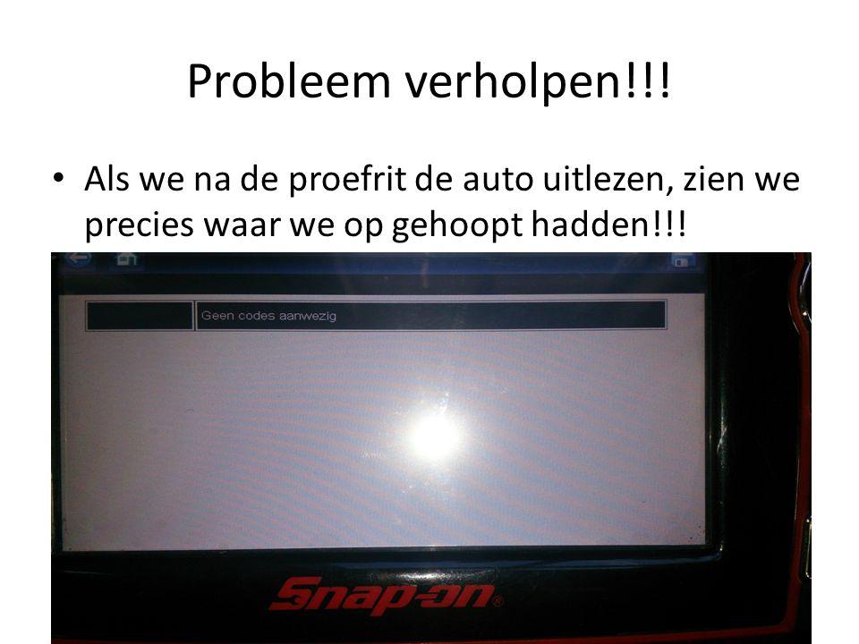 Probleem verholpen!!.