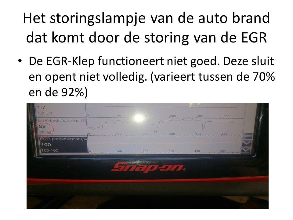 Het storingslampje van de auto brand dat komt door de storing van de EGR