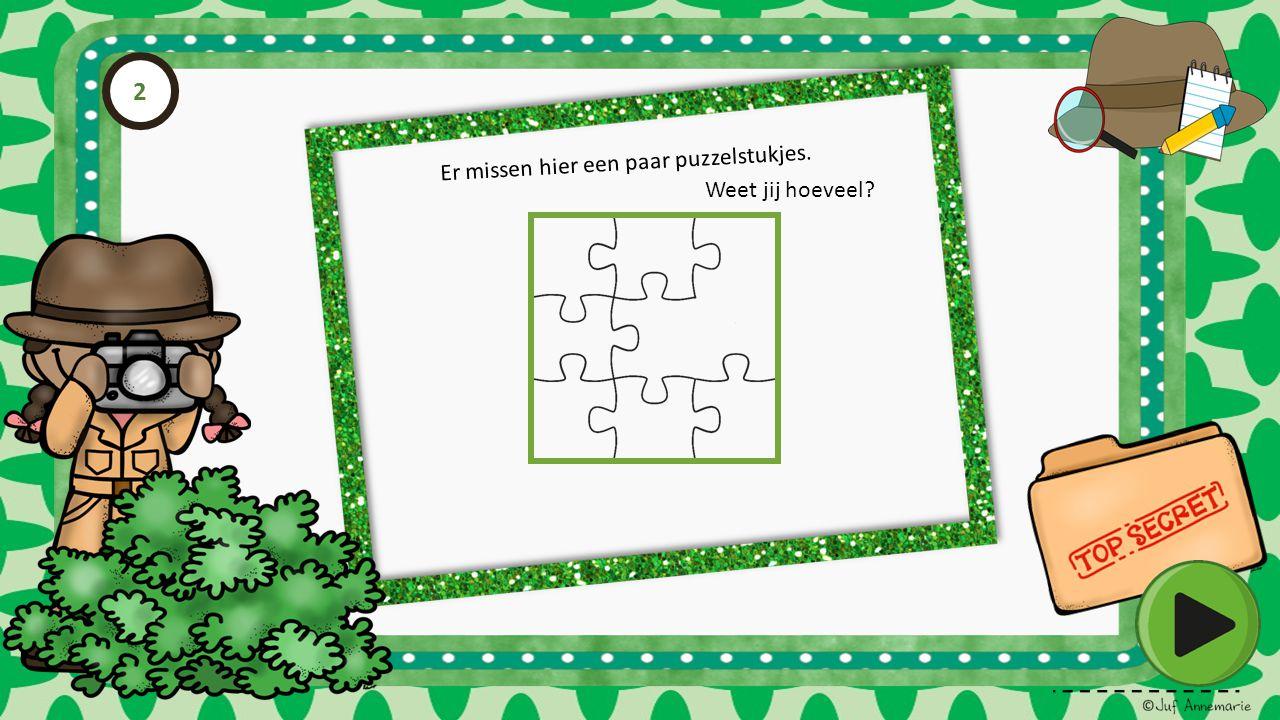 2 Er missen hier een paar puzzelstukjes. Weet jij hoeveel