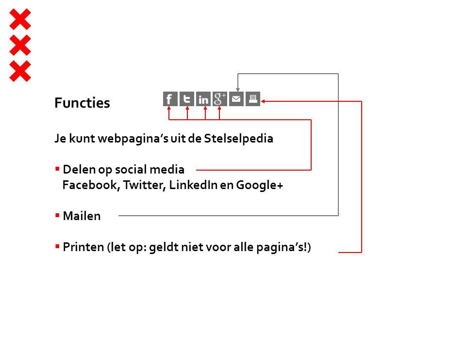 Functies Je kunt webpagina's uit de Stelselpedia
