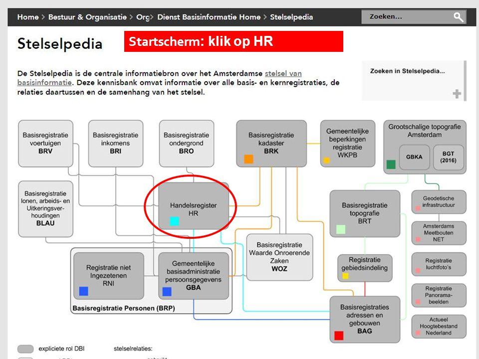 Startscherm: klik op HR