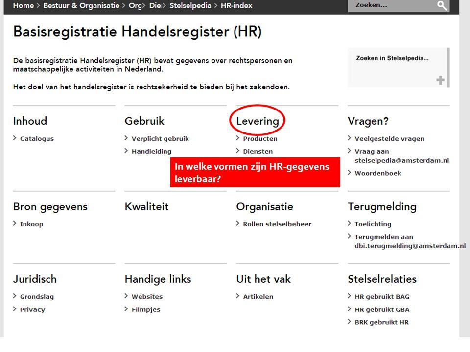 Kies onderwerp In welke vormen zijn HR-gegevens leverbaar