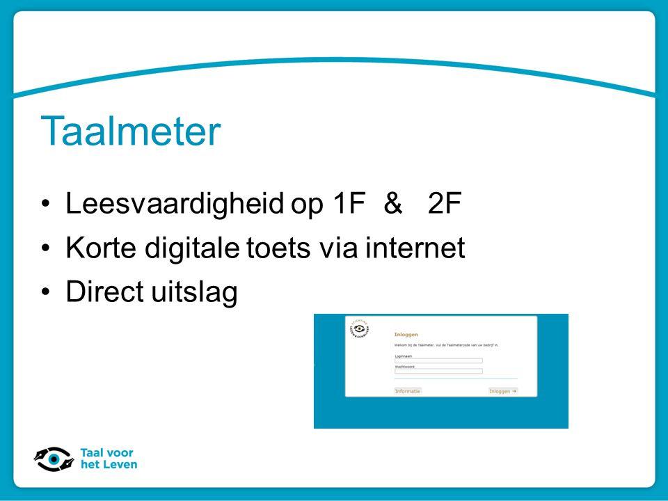 Taalmeter Leesvaardigheid op 1F & 2F Korte digitale toets via internet