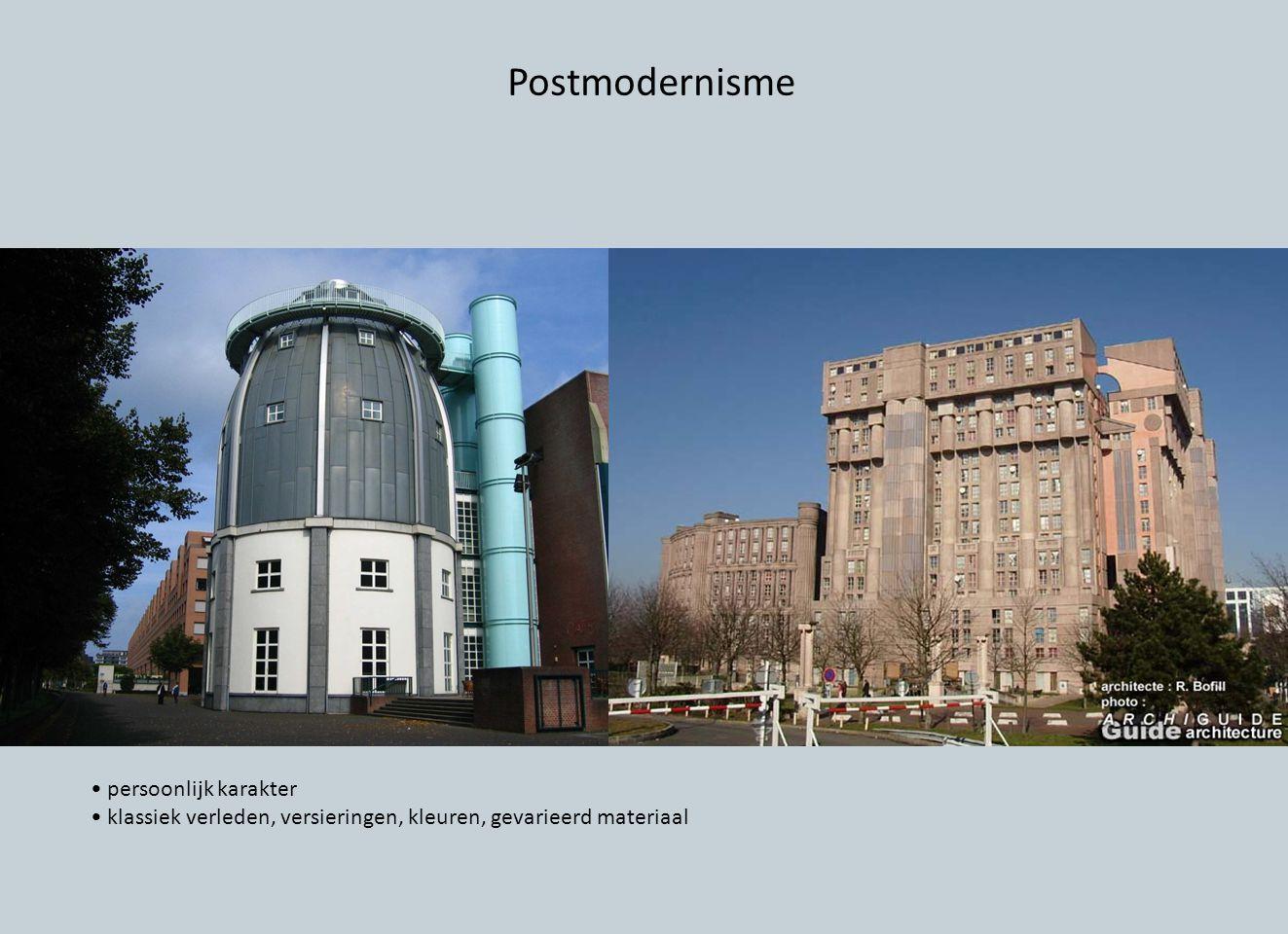 Postmodernisme • persoonlijk karakter